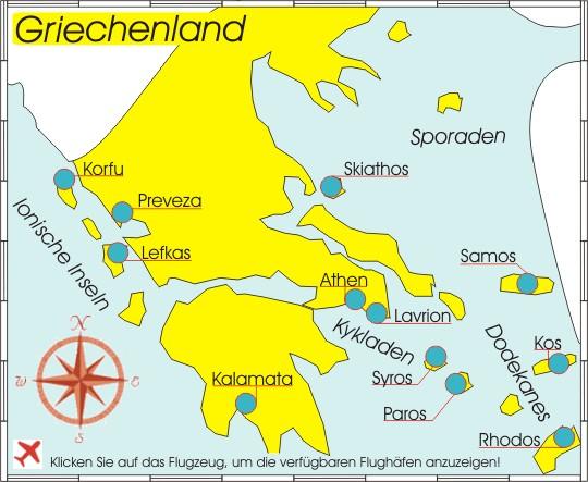 Rhodos Karte Flughafen.Yachtcharter Griechenland